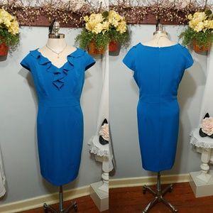 Sandra Darren blue sheeth dress size 16W